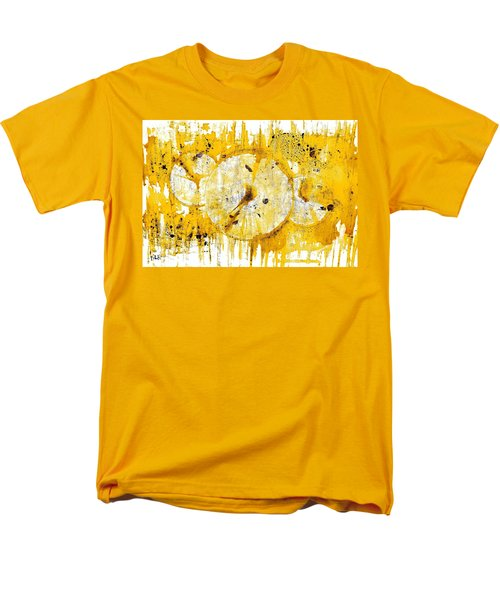 Men's T-Shirt  (Regular Fit) featuring the painting Golden Sun Rise - 1290.121912 by Kris Haas