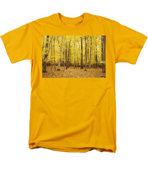 Golden Woods Men's T-Shirt  (Regular Fit) by Aimee L Maher Photography and Art Visit ALMGallerydotcom