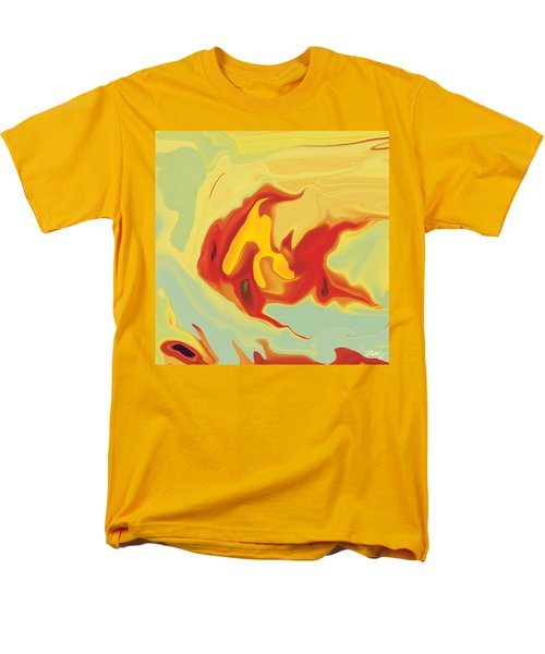 Men's T-Shirt  (Regular Fit) featuring the digital art Goldfish 2 by Rabi Khan