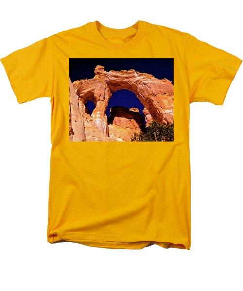 Grosvenor Arch Sunset Kodachrome Basin Men's T-Shirt  (Regular Fit) by Ed  Riche