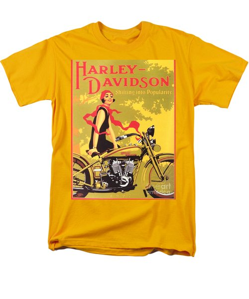 Men's T-Shirt  (Regular Fit) featuring the painting Harley Davidson 1927 Poster by Reproduction