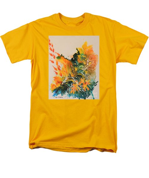 Men's T-Shirt  (Regular Fit) featuring the painting Heading Down #2 by Lyn Olsen
