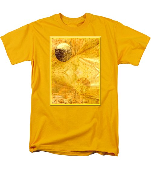 Healing In Golden World Men's T-Shirt  (Regular Fit) by Ray Tapajna