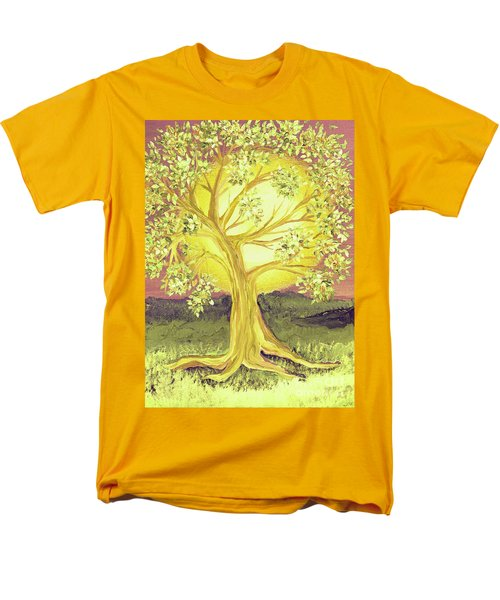 Heart Of Gold Tree By Jrr Men's T-Shirt  (Regular Fit) by First Star Art