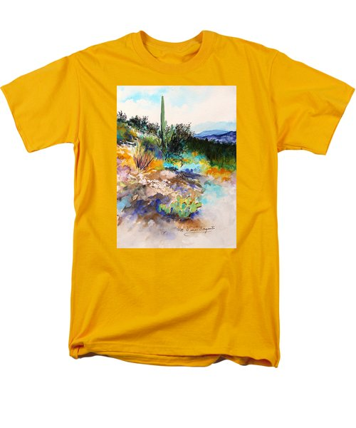 Men's T-Shirt  (Regular Fit) featuring the painting High Desert Scene 2 by M Diane Bonaparte