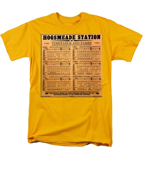 Hogsmeade Station Timetable Men's T-Shirt  (Regular Fit) by David Lee Thompson