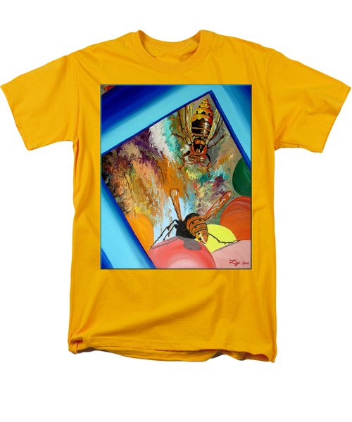 Men's T-Shirt  (Regular Fit) featuring the painting Hornets by Daniel Janda