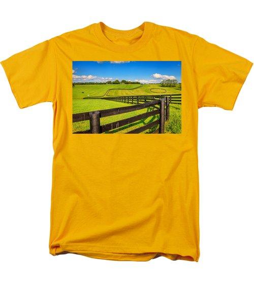 Horse Farm Fences Men's T-Shirt  (Regular Fit) by Alexey Stiop