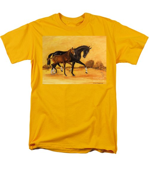 Men's T-Shirt  (Regular Fit) featuring the painting Horse - Together 2 by Go Van Kampen