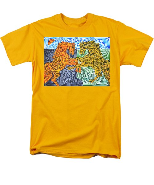 Men's T-Shirt  (Regular Fit) featuring the painting Horses Of A Different Color by Joseph J Stevens