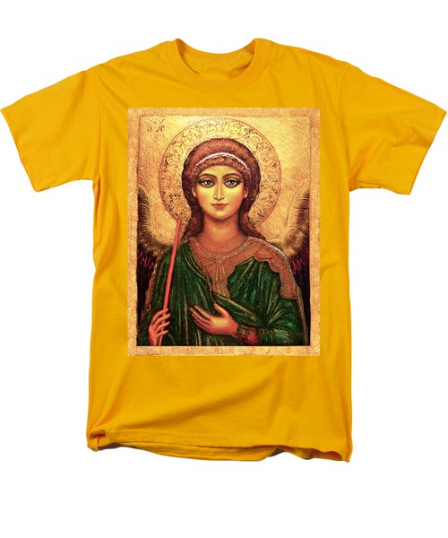Men's T-Shirt  (Regular Fit) featuring the mixed media Icon Angel by Ananda Vdovic
