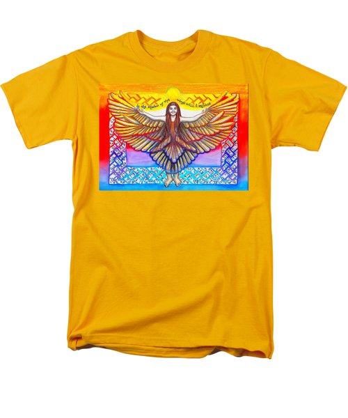 In The Shadow Of Thy Wings Psalms Men's T-Shirt  (Regular Fit) by Hidden  Mountain