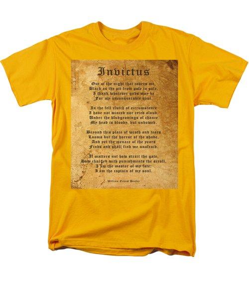 Invictus As A Tribute To Nelson Mandela Men's T-Shirt  (Regular Fit) by Kurt Van Wagner