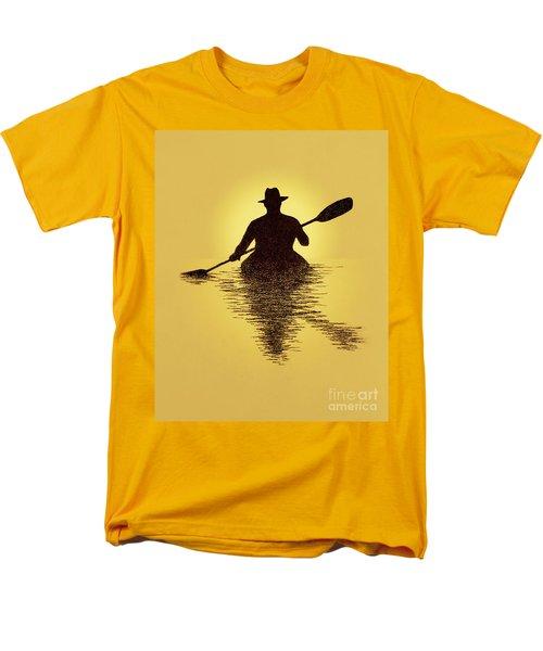 Kayaker Sunset Men's T-Shirt  (Regular Fit) by Garry McMichael