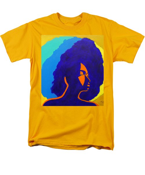 Men's T-Shirt  (Regular Fit) featuring the painting Lady Indigo by Apanaki Temitayo M