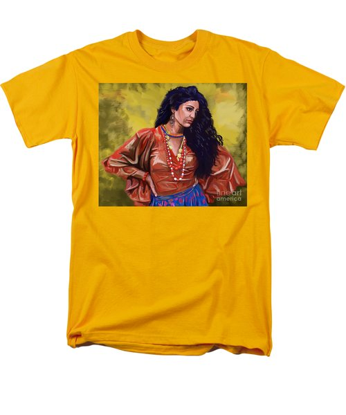 Men's T-Shirt  (Regular Fit) featuring the painting Lala Gypsy Girl by Tim Gilliland