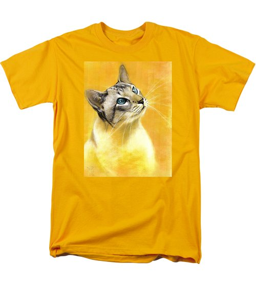 Lynx Point Siamese Men's T-Shirt  (Regular Fit) by VLee Watson