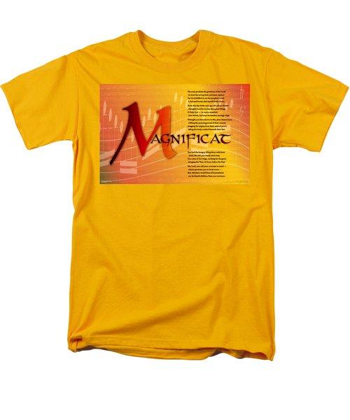 Magnificat Men's T-Shirt  (Regular Fit) by Chuck Mountain
