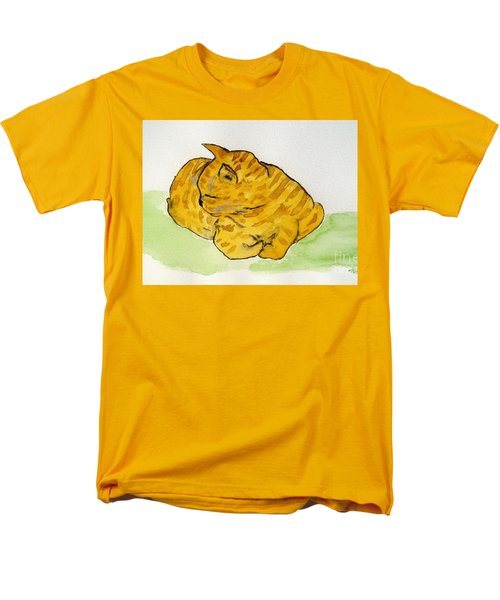 Men's T-Shirt  (Regular Fit) featuring the painting Mr. Yellow by Reina Resto