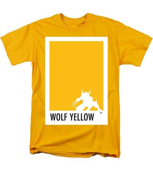 My Superhero 05 Wolf Yellow Minimal Poster Men's T-Shirt  (Regular Fit)