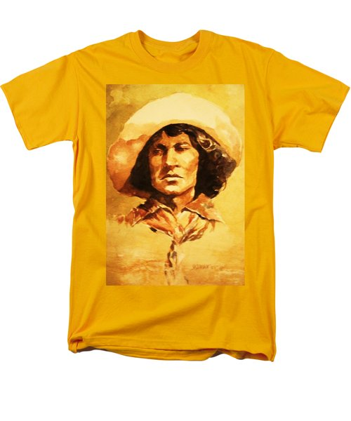 Men's T-Shirt  (Regular Fit) featuring the painting Nat Love Bronc Buster by Al Brown