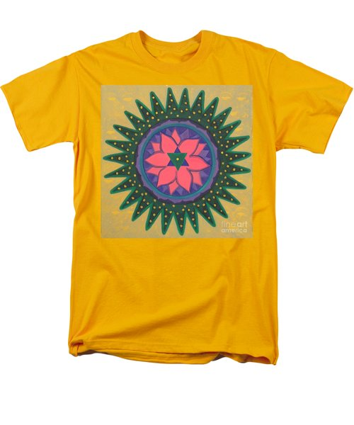 Men's T-Shirt  (Regular Fit) featuring the painting One Gold Bindu by Mini Arora