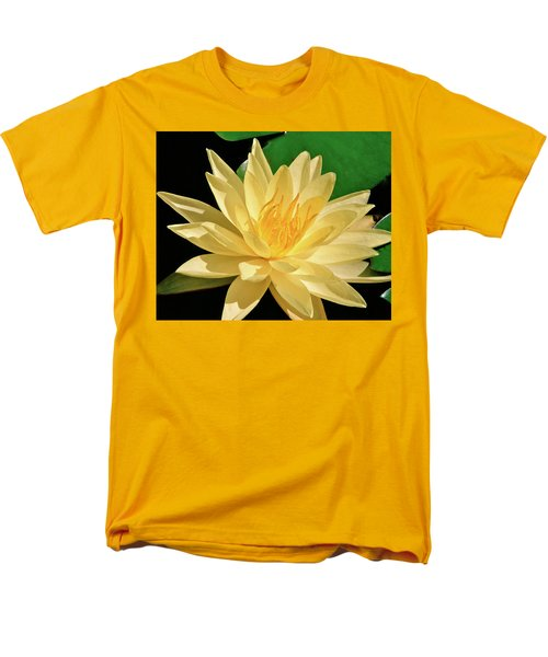One Water Lily  Men's T-Shirt  (Regular Fit) by Ed  Riche