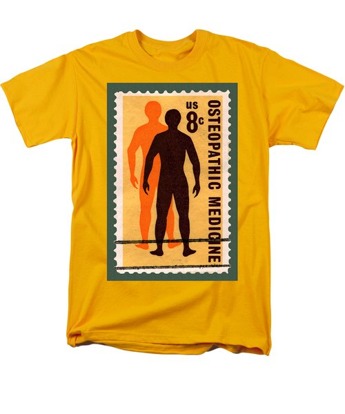 Osteopathic Medicine Stamp Men's T-Shirt  (Regular Fit) by Phil Cardamone