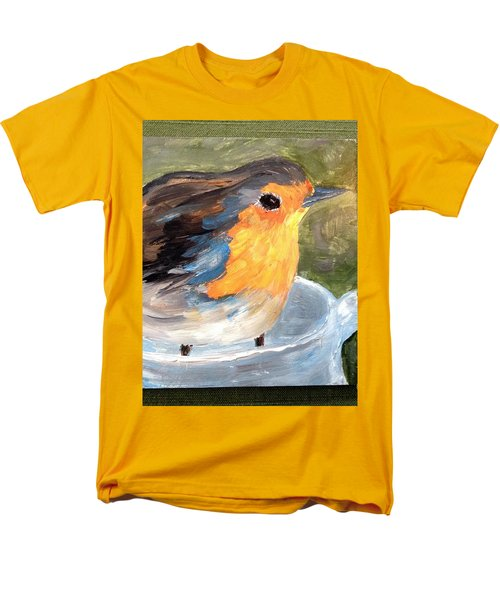 Men's T-Shirt  (Regular Fit) featuring the painting Pajarito  by Reina Resto