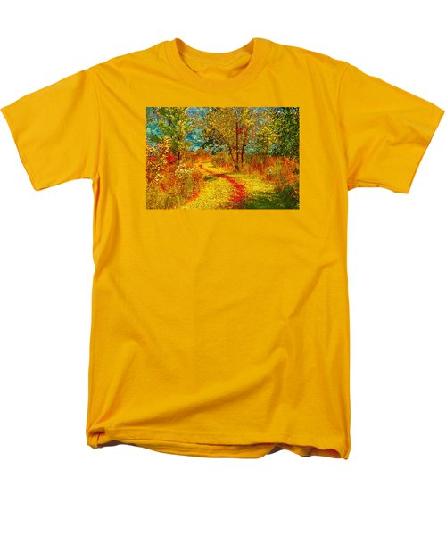 Path Through The Woods Men's T-Shirt  (Regular Fit) by William Beuther