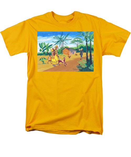 Paysage Du Sud Du Cameroon Men's T-Shirt  (Regular Fit) by Emmanuel Baliyanga