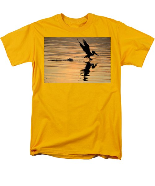 Pelican At Sunrise Men's T-Shirt  (Regular Fit) by Leticia Latocki