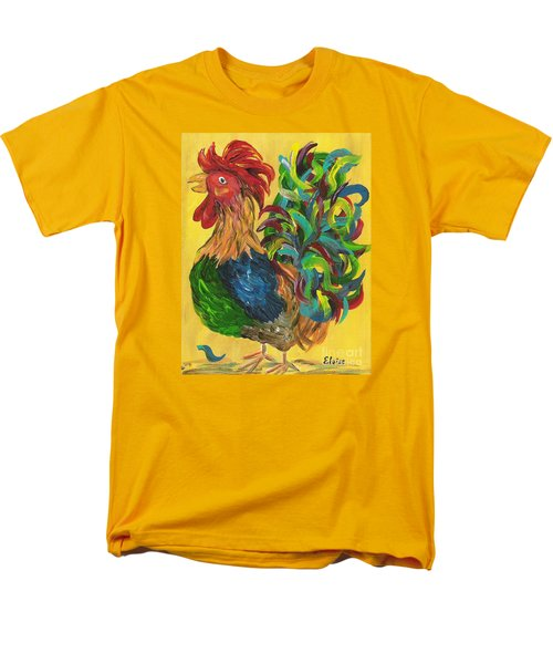 Men's T-Shirt  (Regular Fit) featuring the painting Plucky Rooster  by Eloise Schneider
