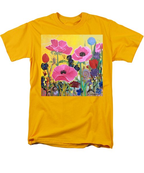 Poppies And Time Traveler Men's T-Shirt  (Regular Fit) by Robin Maria Pedrero