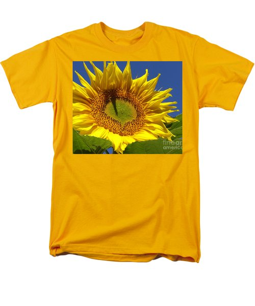 Men's T-Shirt  (Regular Fit) featuring the photograph Portrait Of A Sunflower by Diane Miller