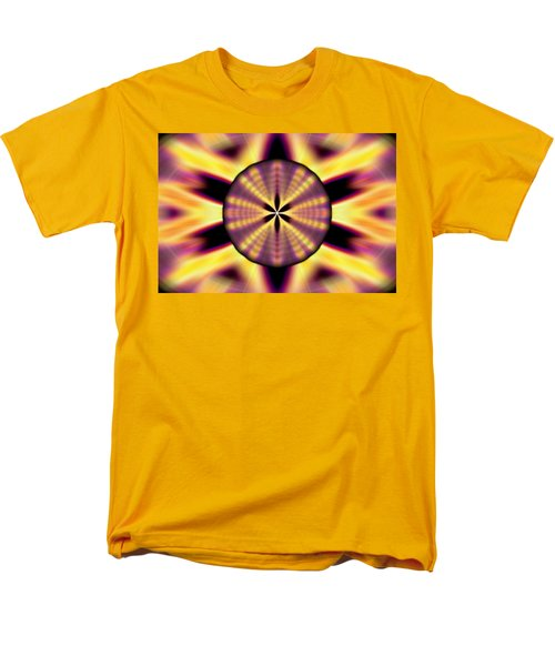 Men's T-Shirt  (Regular Fit) featuring the drawing Rainbow Seed Of Life by Derek Gedney