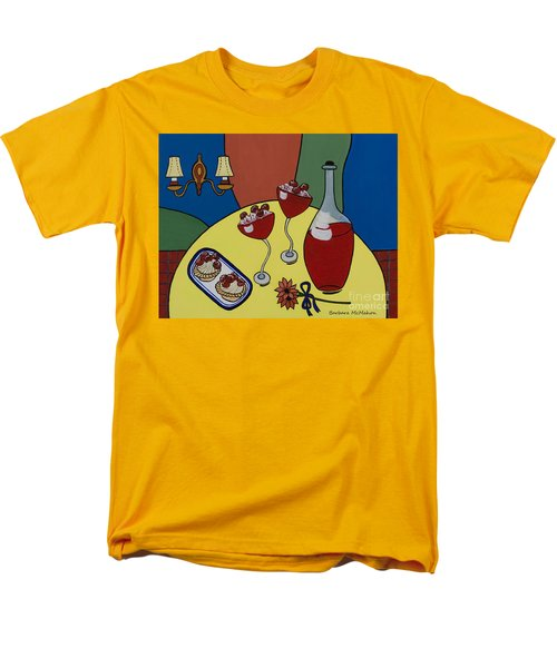 Men's T-Shirt  (Regular Fit) featuring the painting Raspberry Wine by Barbara McMahon