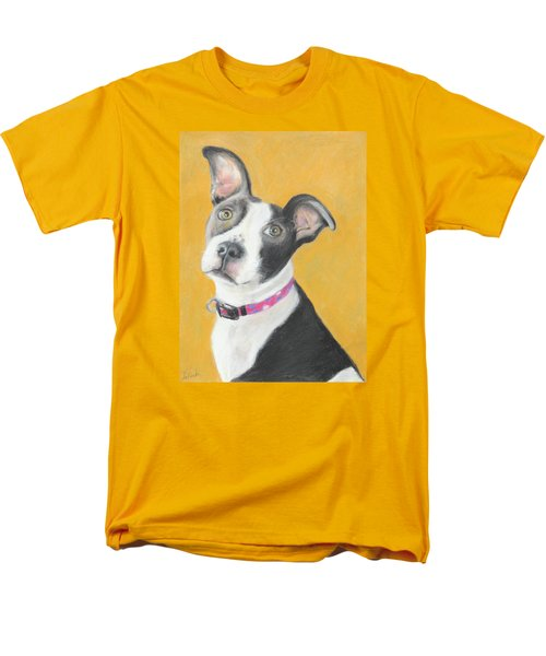 Rescued Pit Bull Men's T-Shirt  (Regular Fit) by Jeanne Fischer