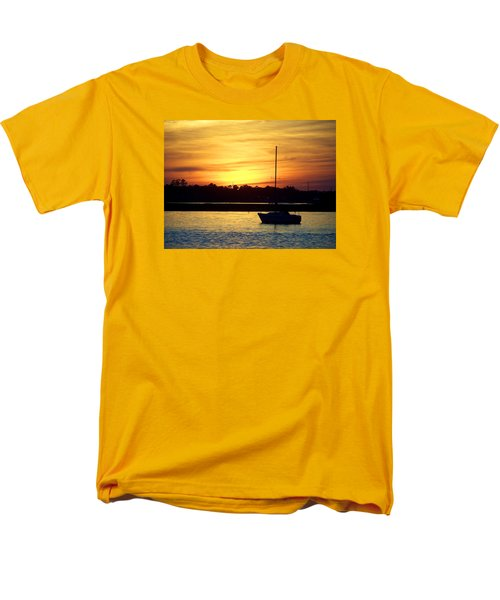 Men's T-Shirt  (Regular Fit) featuring the photograph Resting In A Mango Sunset by Sandi OReilly