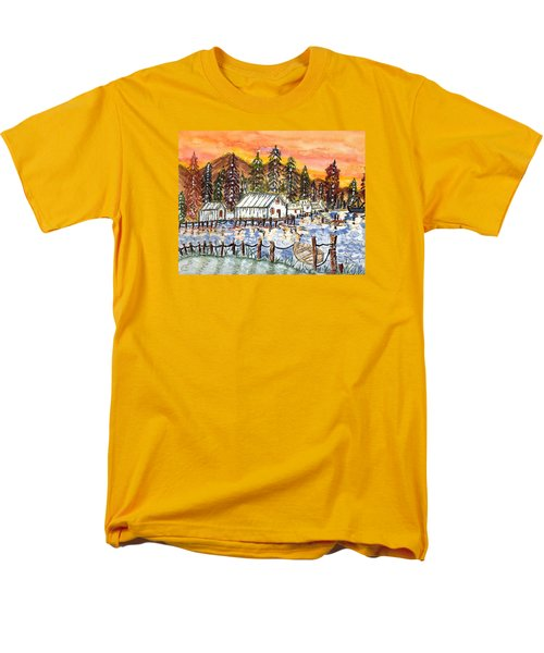 Men's T-Shirt  (Regular Fit) featuring the painting Road To The Oregon Coast by Connie Valasco