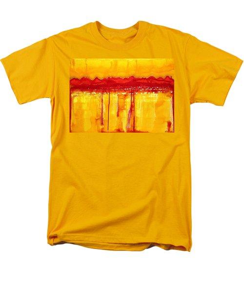 Rocky Mountains Original Painting Men's T-Shirt  (Regular Fit) by Sol Luckman