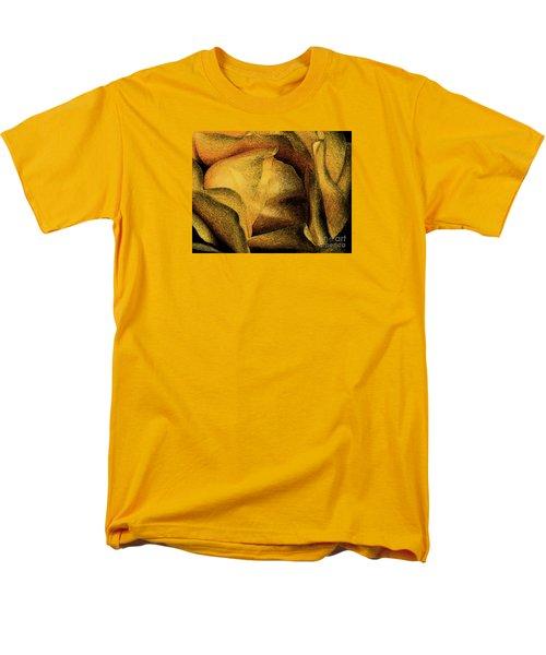 Men's T-Shirt  (Regular Fit) featuring the photograph Rose Yellow Fresco by Jean OKeeffe Macro Abundance Art