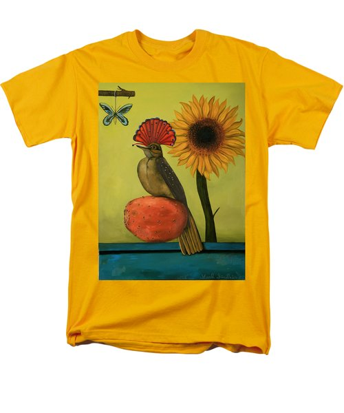 Royal Flycatcher  Men's T-Shirt  (Regular Fit) by Leah Saulnier The Painting Maniac