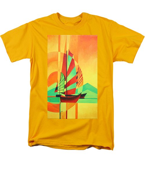 Men's T-Shirt  (Regular Fit) featuring the painting Sail To Shore by Tracey Harrington-Simpson