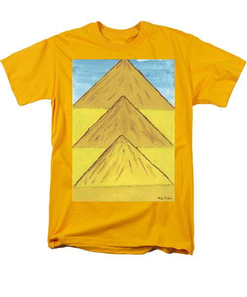 Men's T-Shirt  (Regular Fit) featuring the painting Sand Mountains by Tracey Williams