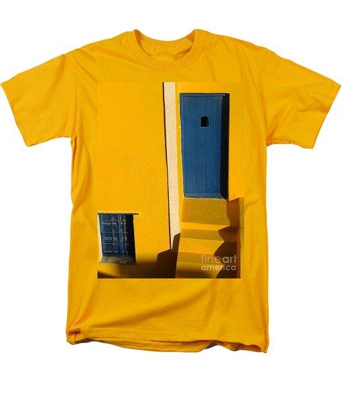 Santorini Doorway Men's T-Shirt  (Regular Fit) by Suzanne Oesterling
