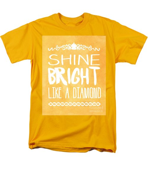 Shine Bright Orange Men's T-Shirt  (Regular Fit) by Pati Photography