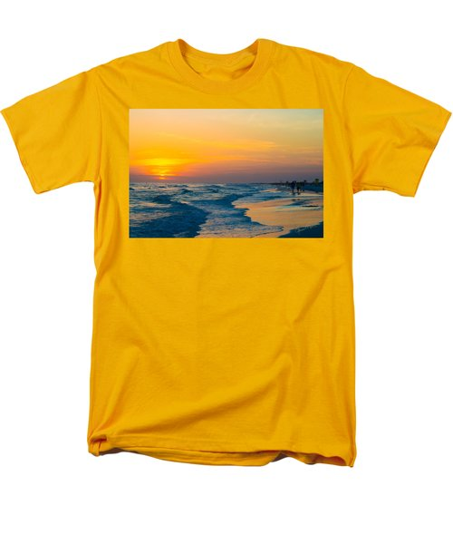 Siesta Key Sunset Walk Men's T-Shirt  (Regular Fit) by Susan Molnar