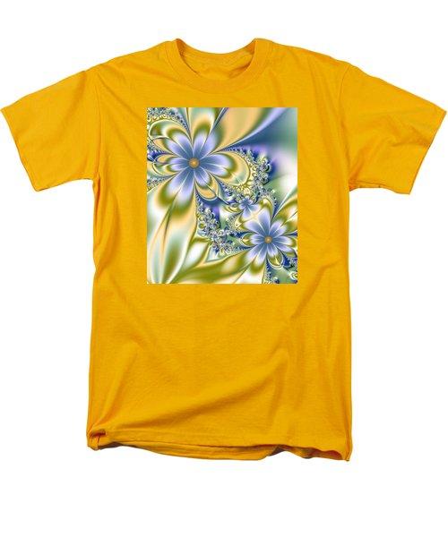 Men's T-Shirt  (Regular Fit) featuring the digital art Silky Flowers by Svetlana Nikolova