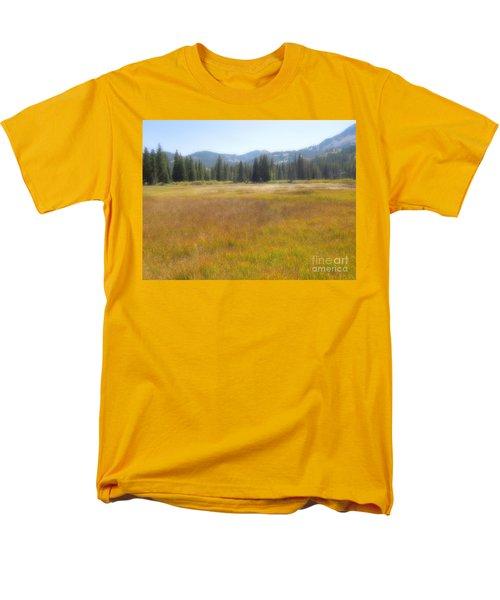Silver Lake Area Big Cottonwood Canyon Utah Men's T-Shirt  (Regular Fit) by Richard W Linford